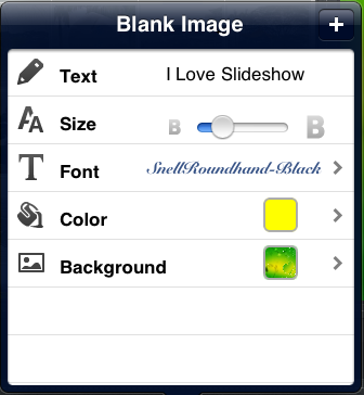 photo slideshow director hd, add blank image